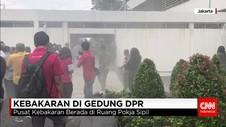 Gedung MPR DPR Terbakar