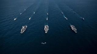 Di Tengah Ancaman Korut, Jepang-AS Latihan Maritim Gabungan
