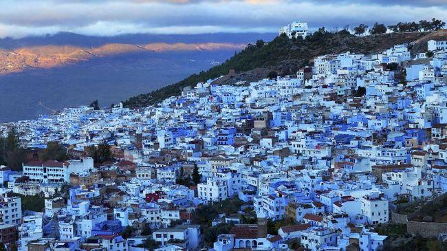 Semburat Hijau di Kota Biru Maroko
