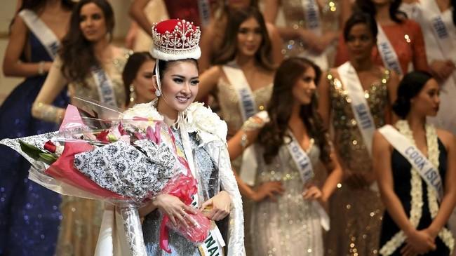 <p>Kemenangan Kevin menjadi yang kedua bagi Indonesia dalam mengirim wakilnya di ajang kontes kecantikan dunia. Sebelumnya, Ariska Putri Pertiwi memenangkan mahkota Miss Grand International 2016. (AFP PHOTO / Toshifumi KITAMURA)</p>