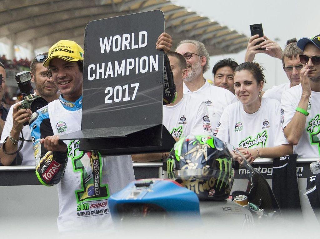 Mengunci titel juaranya di seri Malaysia, Morbidelli digadang-gadang jadi jagoan baru Italia jika nanti dia naik ke kelas MotoGP. (Mirco Lazzari gp/Getty Images)
