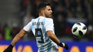 Sergio Aguero Pingsan Saat Membela Argentina Lawan Nigeria