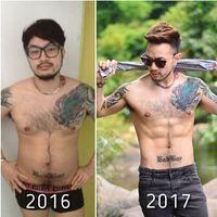 Ternyata hal tersebut malah menjadi dorongan baginya. Ken mulai berdiet dan melakukan olahraga hingga pelan-pelan fisiknya berubah. (Foto: Instagram/kenstreetbar)