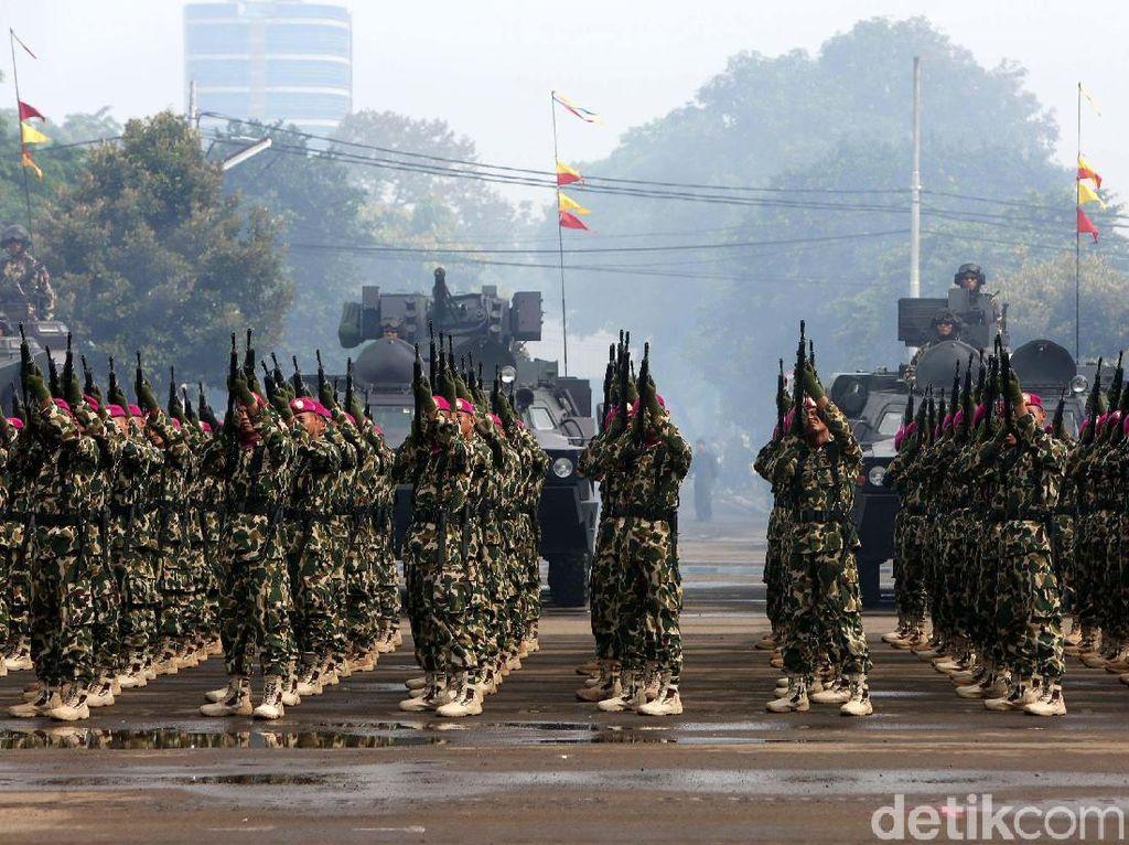 Sebanyak 3.500 prajurit mengikuti acara tersebut.