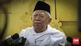 Ma'ruf Amin Minta Pendukung Utamakan Keutuhan Bangsa