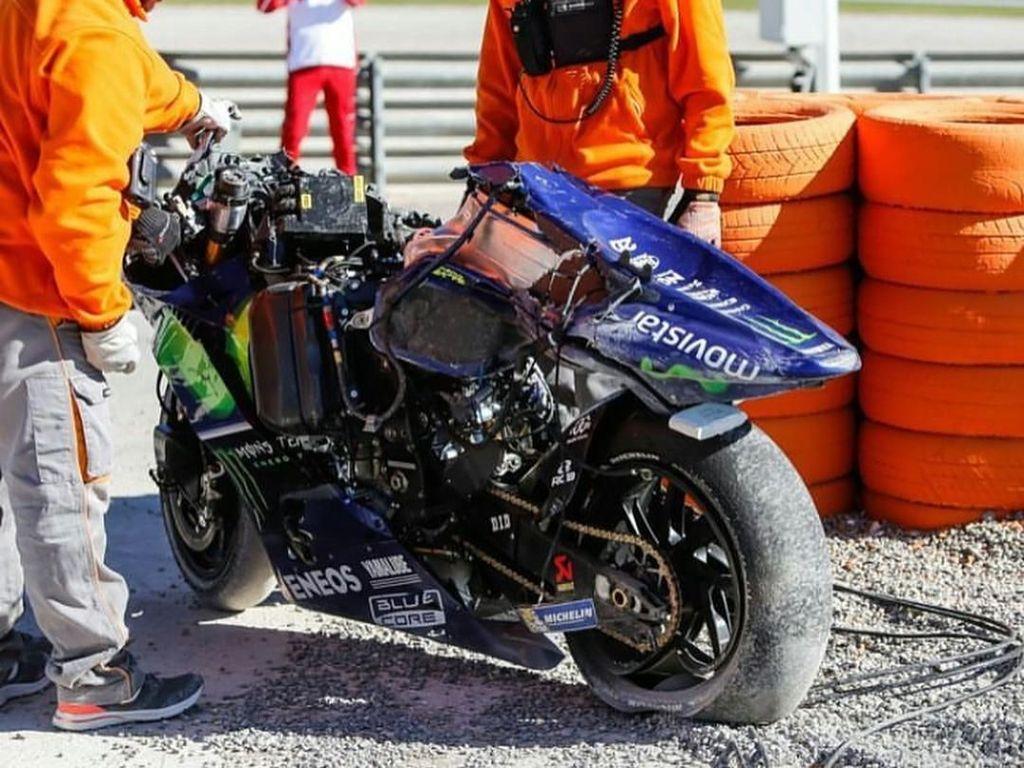 Motor Rossi diamankan oleh marshal sirkuit (Instagram)