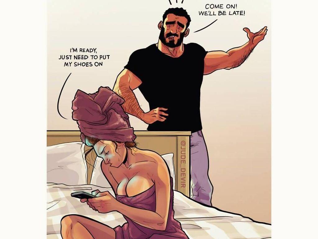 13 Ilustrasi Komik Kehidupan Suami Istri Ini Bikin Kamu Senyum Sendiri