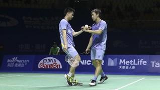 Kevin/Marcus Menang, Jonatan Tumbang di Hong Kong SS