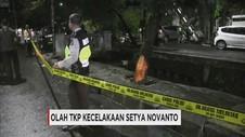 Polisi Gelar Olah TKP Kecelakaan Setya Novanto