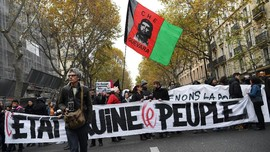 FOTO: Aksi Anti-Macron di Prancis