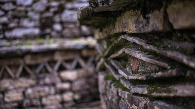 Meski diketahui mulai dibangun sejak abad ke-5 Masehi, namun sebagian besar bangunan didirikan antara 900 hingga 1100 Masehi. (AFP PHOTO / Ernesto BENAVIDES)