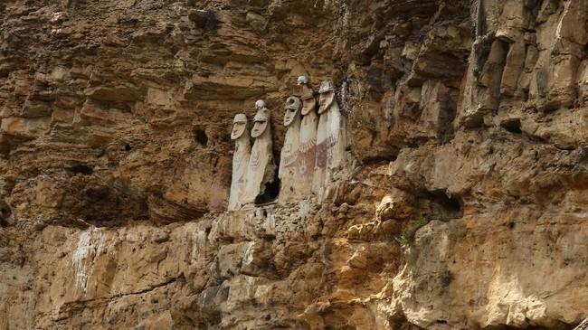 Sebelum dikuasai oleh Inca, suku Chachapoyas terkenal sengit dan konsisten melawan juga mempertahankan diri. (REUTERS/Guadalupe Pardo)