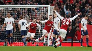 Arsenal Unggul 2-0 atas Spurs di Babak Pertama