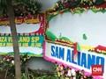 Karangan Bunga #Savetianglistrik untuk Setnov Dirusak