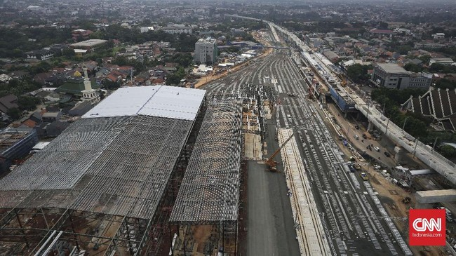 PT Mass Rapid Transit (MRT) menargetkanpembangunan depo di Lebak Bulus bisarampung pada Maret 2019. (CNN Indonesia/ Hesti Rika)