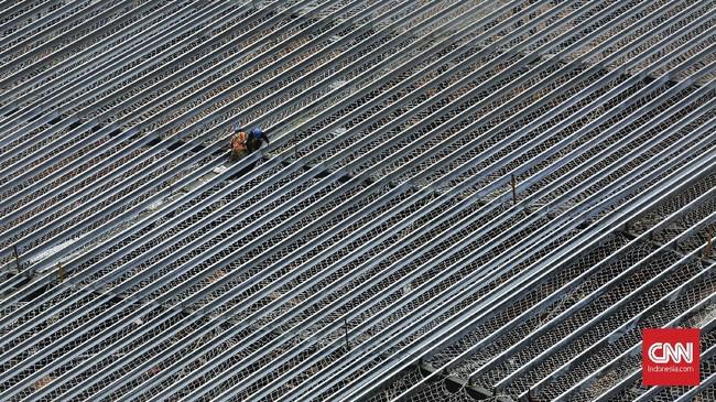 Pembangunan MRT jalur Lebak Bulus-Bundaran HI diperkirakan mampu melayani 173.400 penumpang setiap hari. (CNN Indonesia/ Hesti Rika)