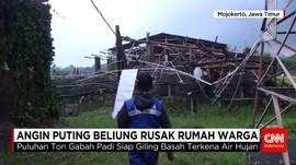 Puluhan Bangunan Rusak Diterjang Puting Beliung