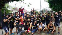 Bagi masyarakat Kota Depok dan sekitarnya, yang mau olahraga membentuk otot gratis bisa merapat berolahraga barenga SWORD. Foto: Widiya Wiyanti/detikHealth