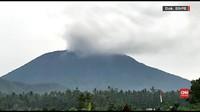 VIDEO: Gunung Agung Muntahkan Asap Hitam