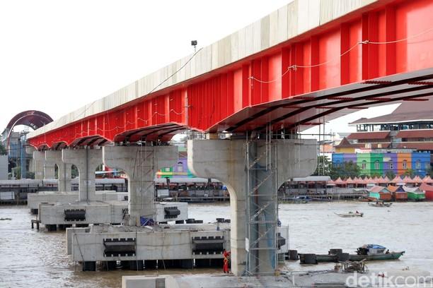 Foto: Mantap, Pembangunan LRT Palembang Lebih Cepat dari Target