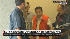 Setya Novanto Menolak Diperiksa KPK