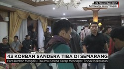 43 Warga Korban Sandera Tiba di Semarang