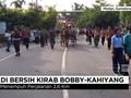 VIDEO: Andong dan Becak Motor Kawal Kahiyang-Bobby di Medan