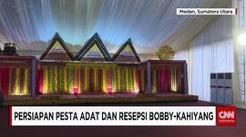 Dekorasi Panggung Pesta Adat dan Resepsi Bobby-Kahiyang