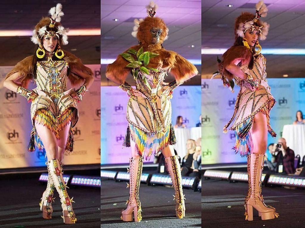Foto: Gaya Mempesona Bunga Jelitha di Penjurian Miss Universe 2017