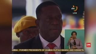 VIDEO: Mnangagwa Resmi Dilantik Jadi Presiden Baru Zimbabwe