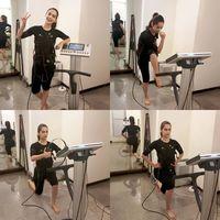 Wanita keenam asal India yang berhasil menjuarai ajang Miss World ini terlihat bersemangat melakukan sesi workout. (Foto: Instagram @manushi_chhillar)
