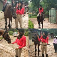 Oh iya, Chhillar juga suka berkuda lho. (Foto: Instagram @manushi_chhillar)