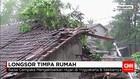 Hujan Lebat Akibatkan Tanah Longsor dan Timpa Rumah Warga