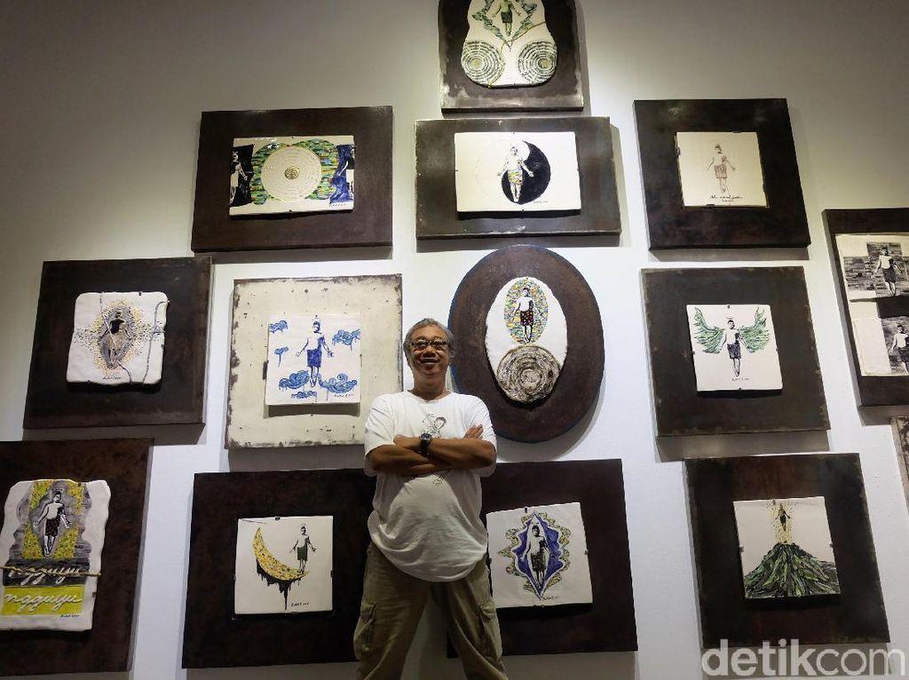 Hasil kreatif Butet dipamerkan di Galeri Nasional, Jakarta, mulai Kamis (30/11) hingga Selasa (12/12). Tia Agnes/ detikHOT