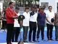 Menpora Dampingi Presiden Jokowi Resmikan Lapangan di GBK