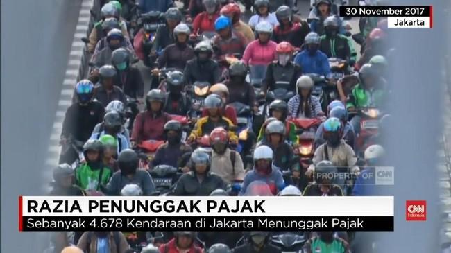 VIDEO: Empat Juta Kendaraan di DKI Masih Menunggak Pajak