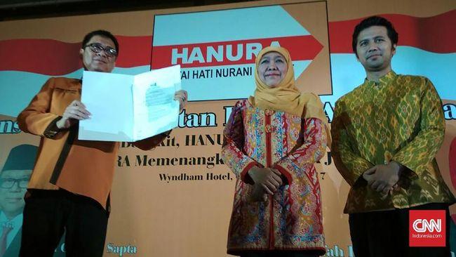 Hanura Resmi Dukung Khofifah-Emil Dardak di Pilgub Jatim 2018