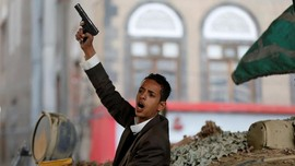 FOTO: Reaksi Pemberontak Houthi atas Kematian Abdullah Saleh