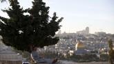 Presiden Donald Trump dilaporkan akan mengumumkan pemindahan Kedutaan Besar Amerika Serikat untuk Israel ke Yerusalem, menandakan pengakuan tempat tersebut sebagai ibu kota pemerintahan zionis. (Reuters/Ronen Zvulun)