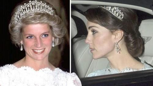 Kate Middleton Tampil Cantik Pakai Mahkota Kesayangan Putri Diana