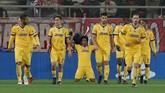 <p>Juventus yang merupakan finalis Liga Champions musim lalu lolos sebagai runner-up Grup D dengan terpaut tiga poin dari Barcelona. (REUTERS/Alkis Konstantinidis)</p>