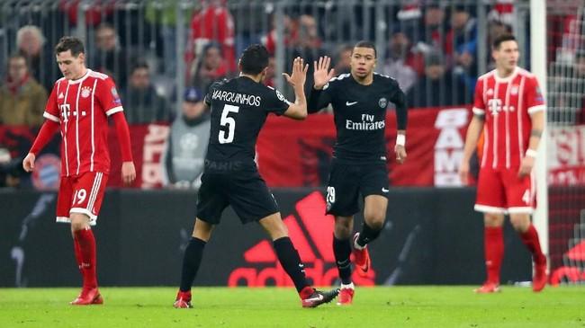 <p>Kylian Mbappe menjadi satu-satunya pencetak gol Paris Saint-Germain ketika dikalahkan Bayern Munich. (REUTERS/Michael Dalder)</p>