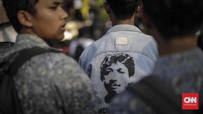 <p>Mendiang aktivis HAM, Munir, adalah salah satu simbol untuk menuntut ditegakkannya keadilan terhadap para korban pelanggaran HAM di Indonesia. (CNNIndonesia/Adhi Wicaksono)</p>