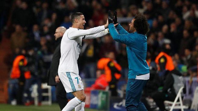 Ronaldo Cetak Gol, Madrid Ungguli Dortmund di Babak Pertama