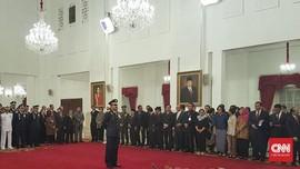 Marsekal Hadi Tiba di Istana Jelang Pelantikan Panglima TNI