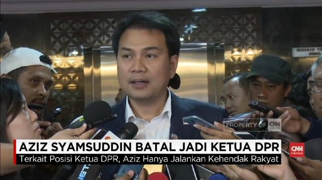 VIDEO: Aziz Syamsuddin Batal Gantikan Setnov di DPR