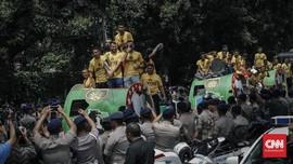 Bhayangkara FC Gelar Pesta Juara di Surabaya