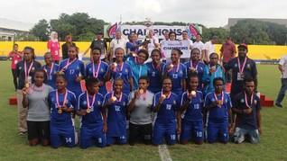 Tim Papua Sukses Raih Piala Pertiwi 2017