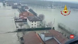 VIDEO: Hujan Besar Menyebabkan Banjir di Italia Utara