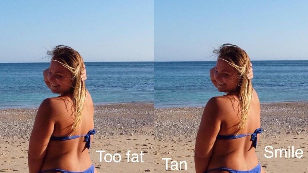 Foto: Bukti Body Goals di Instagram Tak Seindah Kenyataan